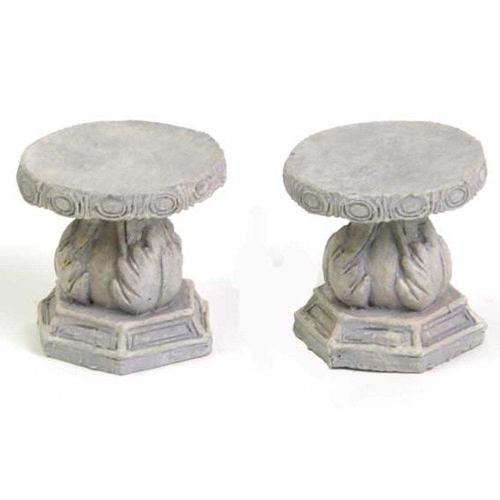 Fiddlehead Fairy House Fairy Home Fairy Garden Miniature Stone Stools, Set of 2 16464